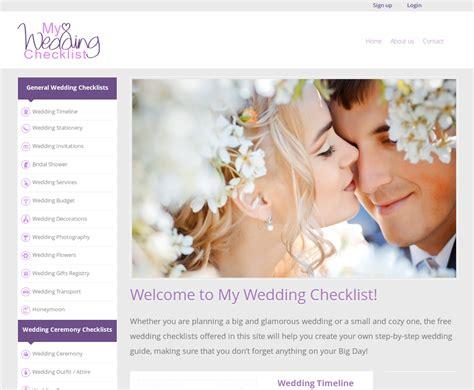 Wedding Checklist Website by My Wedding Checklist Announces Launch Of New Website