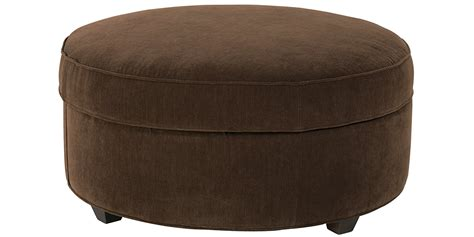 Large Round Fabric Upholstered Storage Ottoman Club Circle Ottoman With Storage