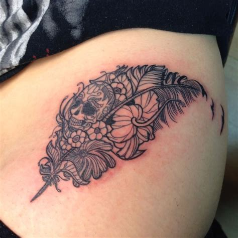 tattoo feather skull 17 best images about tattoo ideas on pinterest cherry