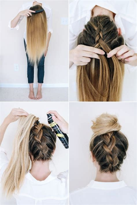 easy hairstyles for school no heat 25 best ideas about easy french braid on pinterest