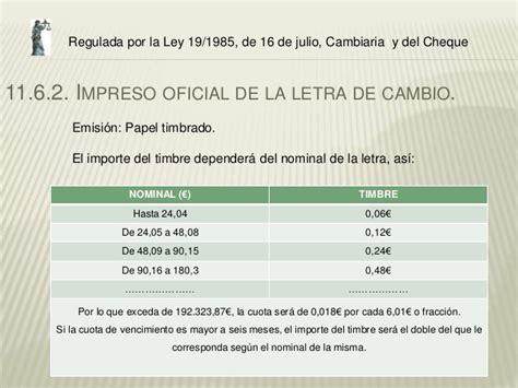 ley 191985 de 16 de julio cambiaria y del cheque pago aplazado