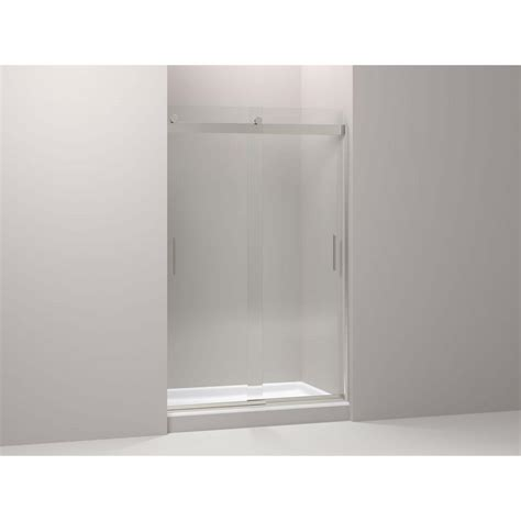 26 Shower Door Kohler Levity 26 In X 74 In Shower Door In Nickel K 706210 L Nx The Home Depot