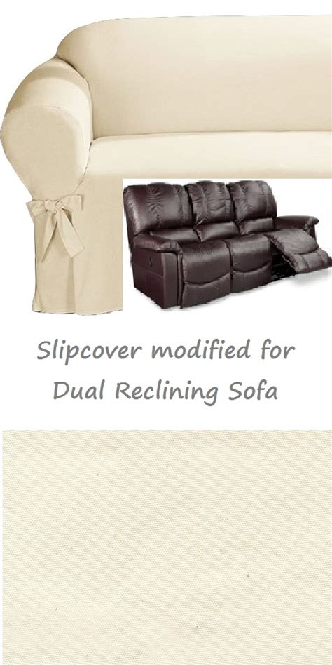 dual reclining sofa slipcover dual reclining sofa slipcover cotton sure fit