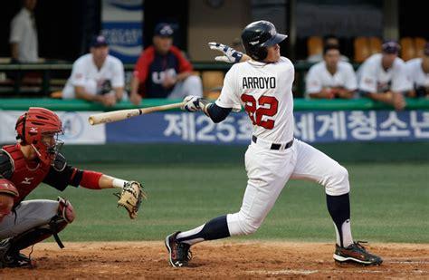 christian arroyo in usa v canada 18u baseball world chionship zimbio