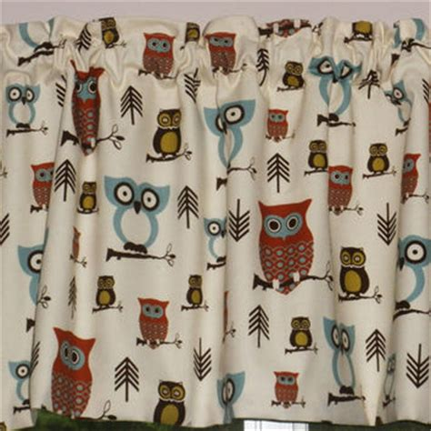 Owl Kitchen Curtains Kitchen Curtain Valance Hooty Owl From Seamsoriginal On Etsy