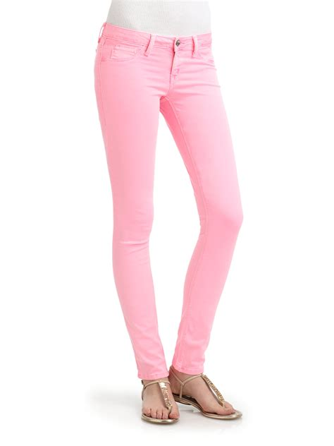 sold design lab denim sold design lab pink spring street skinny leg denim