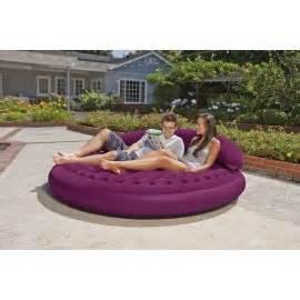 Telebrand Sofa Air Bed Round Shape Sofa Bed Telebrands