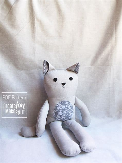 Cat Doll by 13 Cat Doll Sewing Pattern Tutorial Pdf Printable