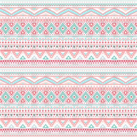 pink pattern clipart tribal ethnic seamless pink pattern vector image 82710