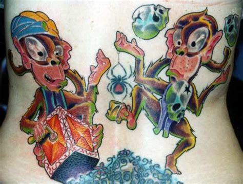 tattoos of cartoon monkeys tattoo design cartoon monkey tattoos