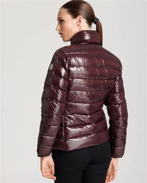 Moncler Oversized Coussin Lacquered Handbag by Moncler Clairy Lacquer Coat In Burgundy