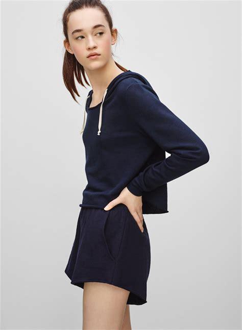 Crop Jaket Hoodie Navy cropped pullover hoodie covu clothing