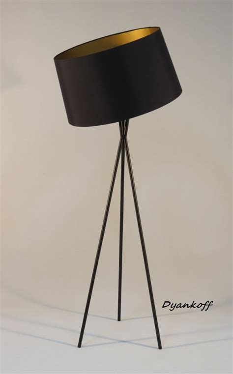 handmade tripod floor l with black colored metal stand