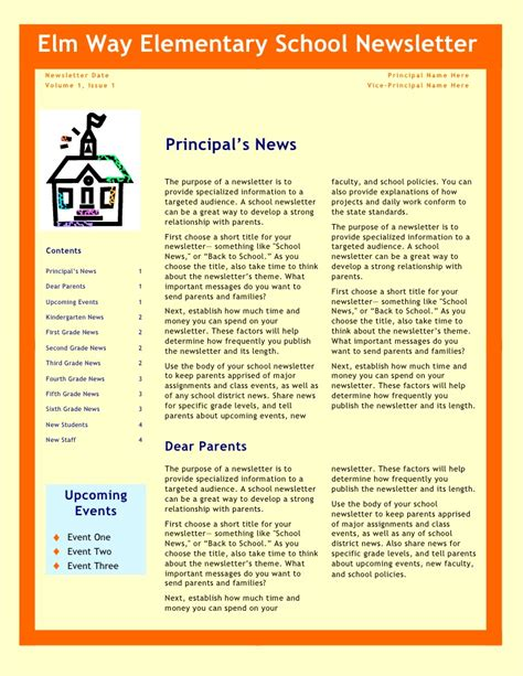 College Newsletter Names School Newsletter