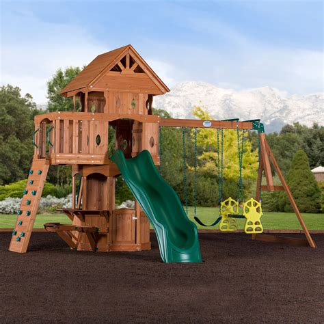 woodland swing set leisure time products woodland cedar swingset boutiqify