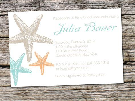 starfish elegance bridal shower baby shower destination