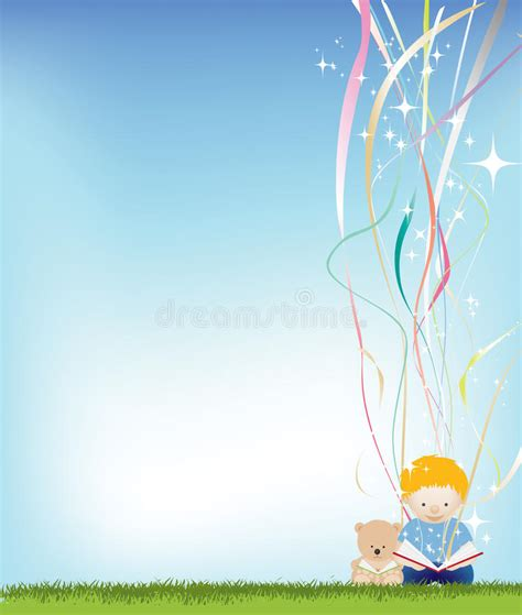 background design reading boy reading background stock vector illustration of magic