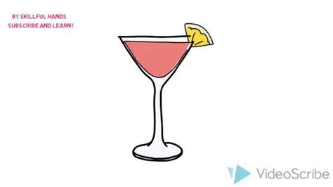 cocktail drawing how to draw a cocktail как нарисовать коктейль