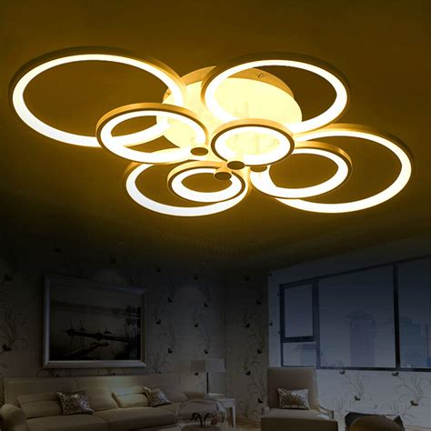 Living Room Led Ceiling Lights Remote Living Room Bedroom Modern Led Ceiling Lights Luminarias Para Sala Dimming Led