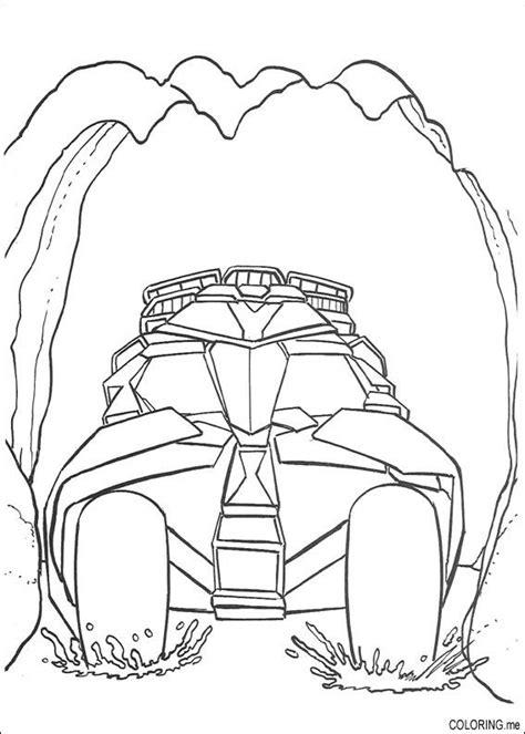 coloring page batman car coloring me