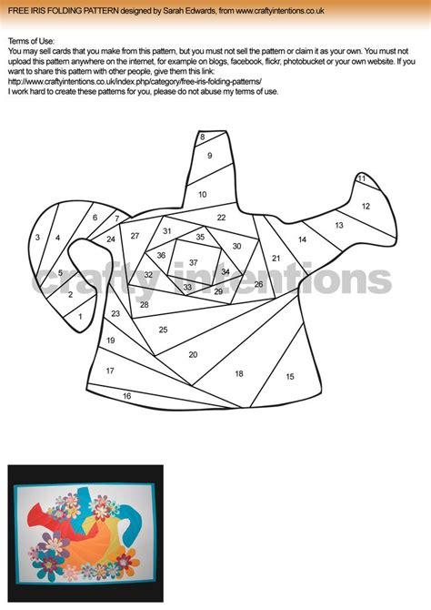 paper folding templates iris folding patterns free printables watering can iris