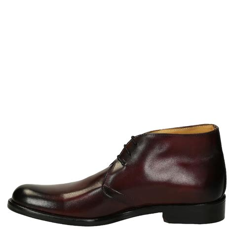 burgundy calf leather s chukka boots italian boutique