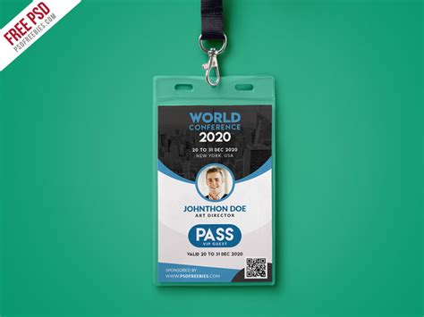 conference id card template conference id card template psd free