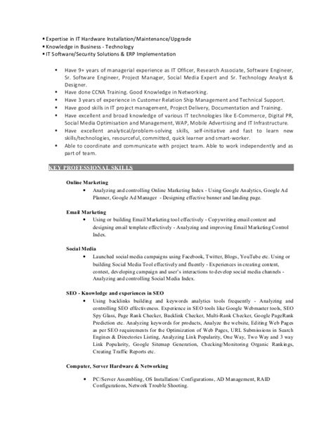 Elementary Media Specialist Sle Resume by Social Media Specialist Resume Objective 28 Images 10 Marketing Resume Sles Hiring Managers