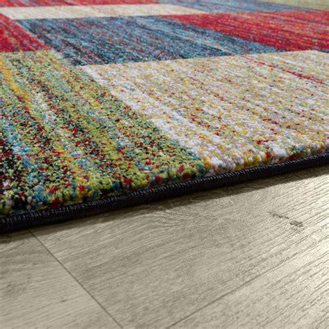 teppiche bunt modern designer teppich bunt modern kurzflor mulitcolour moderne