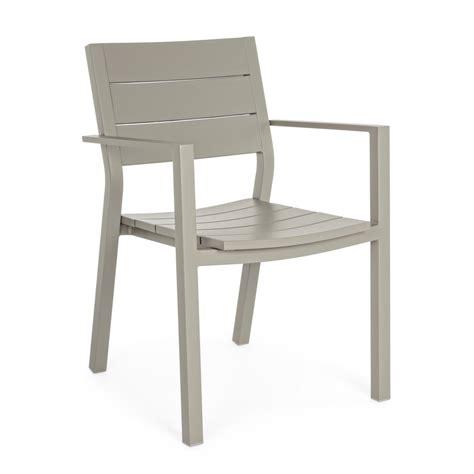 sedie giardino sedia da giardino con braccioli colore tortora modello