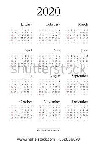 simple calendar   years week stock vector  shutterstock