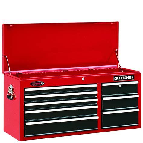craftsman 8 drawer tool box craftsman 40 quot wide 8 drawer ball bearing tool chest red
