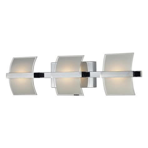 led bathroom vanity light shop westmore lighting 3 light aprokko polished chrome led
