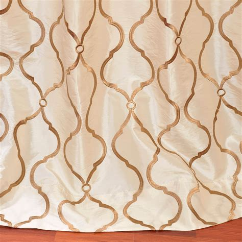 ivory silk drapes tunisia ivory embroidered faux silk curtain drapes