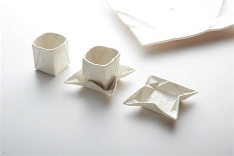 Origami Plates - ceramic origami plates and dishware by moij design