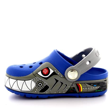 Light Up Crocs by Boys Crocs Crocslights Robo Shark Light Up Clogs