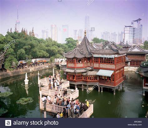 ancient chinese house picture yu yuan gardens shanghai yu yuan tea house and city skyline yu yuan shangcheng yu