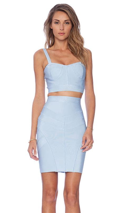 Set Topskirt Jj494 asilio sky high top and skirt set in blue from revolve clothing