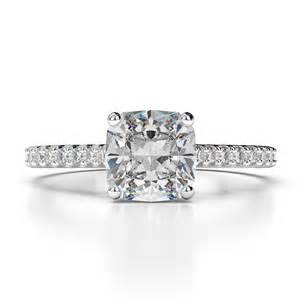 Cushion Cut Ring 1 00 Carat Cushion Cut D Vs2 Solitaire Engagement