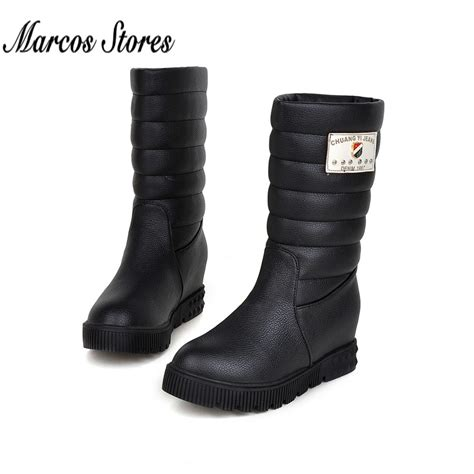 stylish snow boots for 2015 fashion winter boots pu leather knee high ug