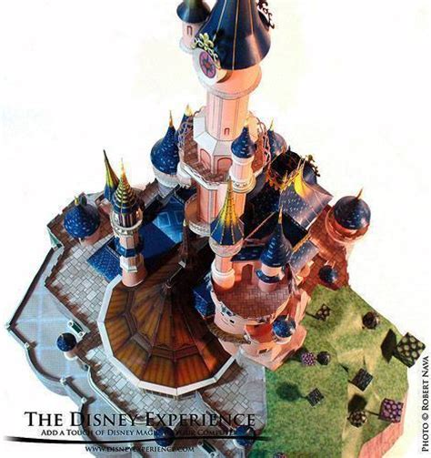 Sleeping Castle Papercraft - disneyland paper crafts