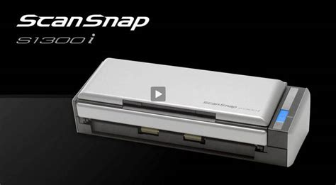 Portable Scanner Fujitsu S1300i scansnap s1300i portable document scanners for pc mac