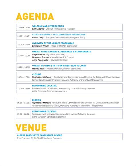 event itinerary template sle event agenda 7 documents in pdf word
