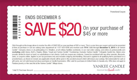 printable coupons for yankee candle 2015 yankee candle company