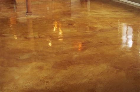 Rustic Tan and Weathered Wheat Acid Stain w/ Foundation