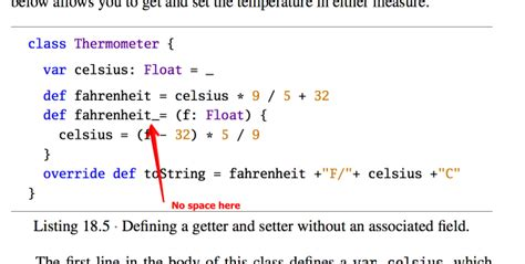 setter is defined without getter scala s implicit setter and getter exle from book