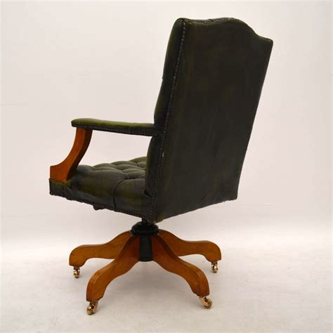 swivel leather desk chair antique georgian style leather swivel desk chair