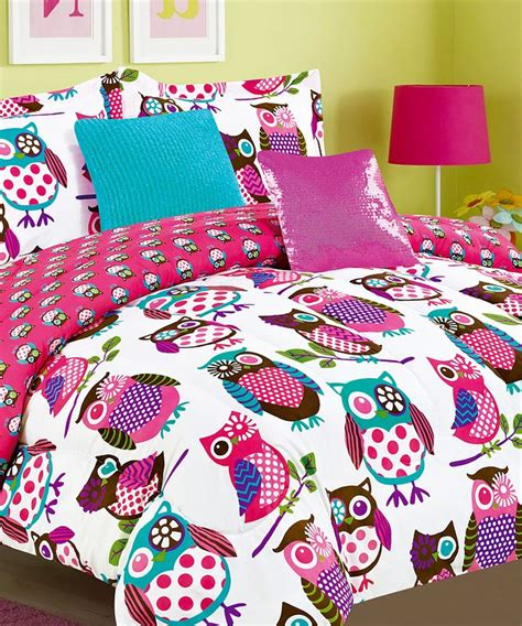 girls owl bedding pink yukon comforter set products ideas i love pinterest