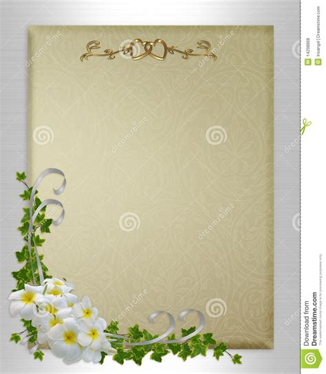 Wedding Announcement Backgrounds by Wedding Invitation Plumeria And Royalty Free Stock