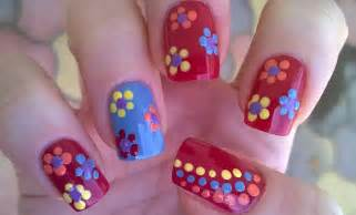 dotting tool flower nail art diy easy summer nails for